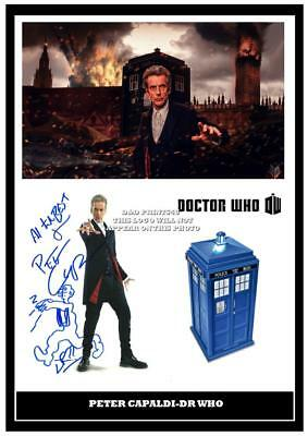 129 peter capaldi    DR WHO SIGNED  PRINT SIZE A4