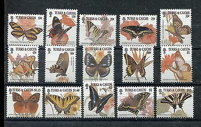 Turks & Caicos 1352-1366, MNH, Insects Butterflies 2001. x28007