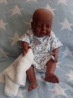 PETERKIN 16ins NEWBORN ETHNIC BABY BOY DOLL ANATOMICALLY CORRECT  #20