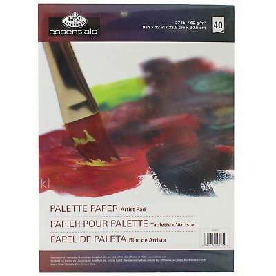 Disposable Palette Paper 40 Tear Off Sheets Poly Coated Wax Feel 9x12""