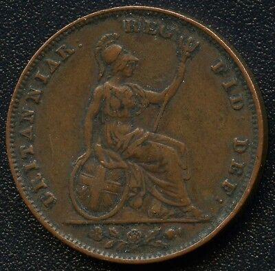 1853 Great Britain 1 Farthing Coin