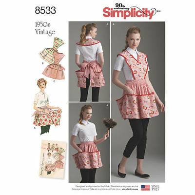 Simplicity Pattern 3949 Childrens and Misses Aprons matching kitchen cooking