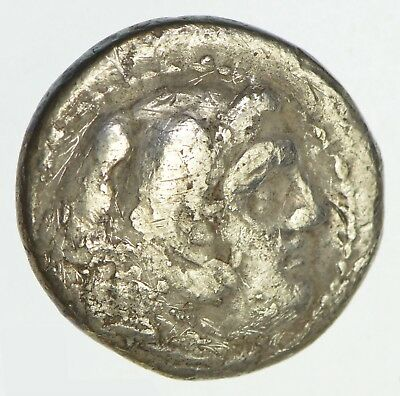 Ancient Head of Alexander Drachm Silver Coin - Could Be As Early As 336BC *0135
