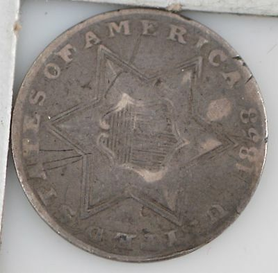 1853 Silver Three-Cent Piece *Z04