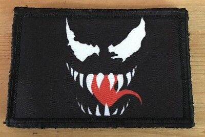 Venom Face Morale Patch Military Tactical Army Flag USA Badge