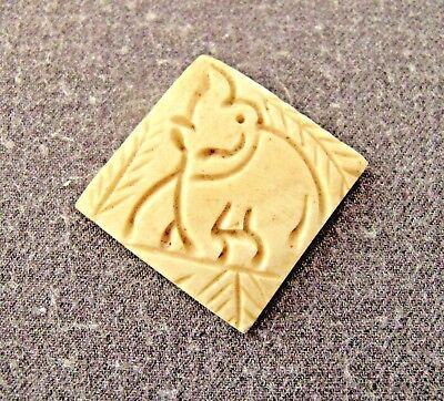 Vintage Large Genuine Bovine Bone Carved Elephants Loose Bead