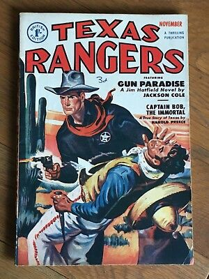 Texas Rangers - British Reprint Edition - November 1951 Jackson Cole etc