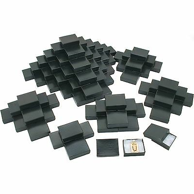 100 Black Stripe Cotton Filled Jewelry Gift Box 2 1/8""