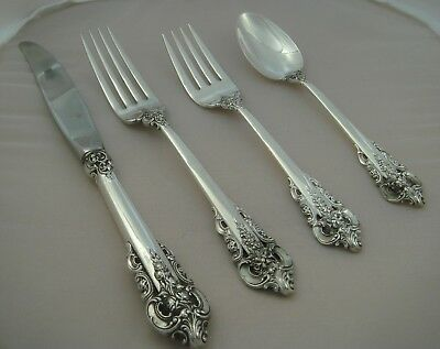 Wallace Grand Baroque Sterling Silver Four Piece Setting