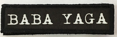 1x4 Baba Yaga Morale Patch Tactical Military Army Flag USA