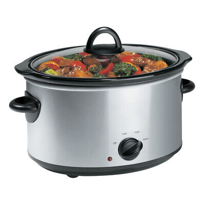TODO 3.5L SLOW COOKER STAINLESS STEEL w/ REMOVABLE CERAMIC BOWL XJ-13218C