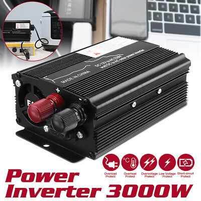 3000W Car Solar Power Inverter 12/24V To 110/220V Modified Sine Wave Converter