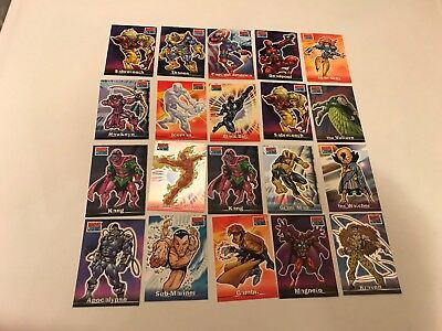 Topps Marvel Legends 2001 Lot Of 45 Cards Ex/nm