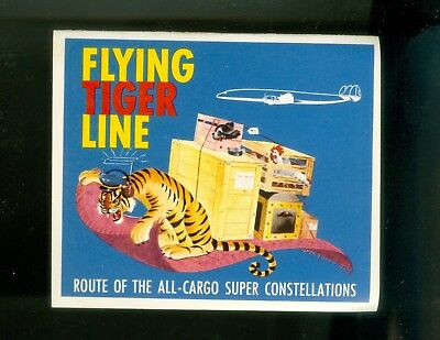 1940s? Lot Of 5 Flying Tiger Air Line Luggage Labels