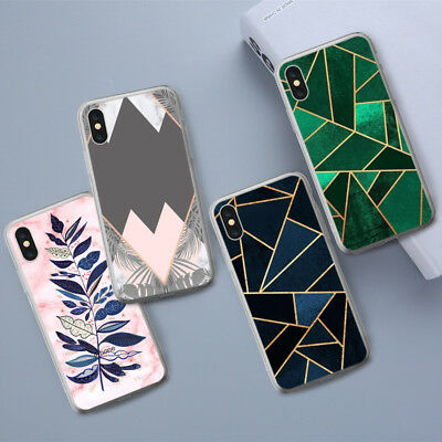 Marble Leaves TPU Phone Case Cover for Samsung Huawei Xiaomi IPhone X 8 Plus 7 6