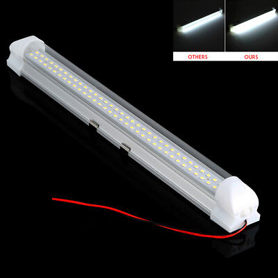 4X 72 LED Interior Light Strip Bar Car Van Bus Caravan ON OFF Switch 12V