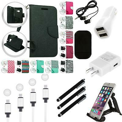 For Nokia Lumia 640 XL Phone Wallet Case With Credit Card ID Slots Strap Charger