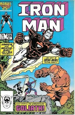 Iron Man Comic Book #206 Marvel Comics 1986 NEAR MINT NEW UNREAD