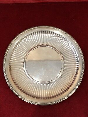 Large Vintage Tiffany & Co. Sterling Silver Reticulated Tray Or Plate 535 grams