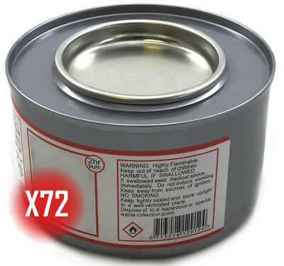 Special Bulk Buy Deal! 72 Tins Of 2+ Hour Chafing Gel Fuel For Chafing Dish Etc