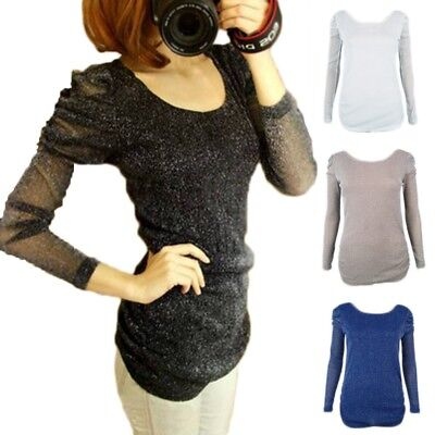 2015 New Vintage Clubbing Sparkly Boho Ladies Winter Top EU sz 32-36