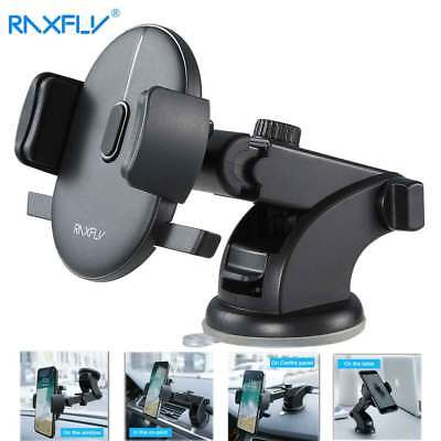RAXFLY Windshield Mount Car Stand Holder For Samsung S9 Plus iPhone X Phone
