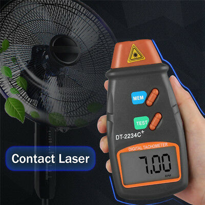 Handheld Digital LCD Laser Photo Tachometer Measurement Measuring Tester Tools