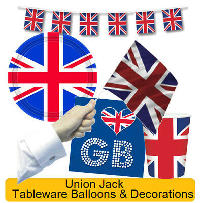 Great Britain UNION JACK Royal Wedding Party - Tableware Balloons & Decorations