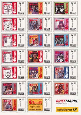 20 x 0,70 € GoodTimes Briefmarken (Deutsche Post) Rolling Stones, Alvin Lee uva.