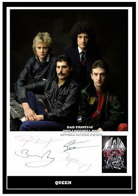 118. queen freddie mercury signed photograph reprint great gift