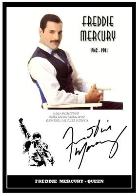 122. queen freddie mercury signed photograph reprint great gift