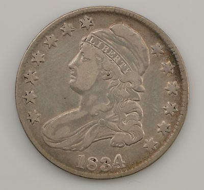 1834 Capped Bust *Large Date, Small Letters* Silver Half Dollar *Q36
