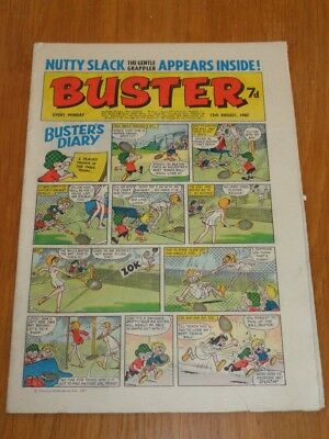 Buster 12Th August 1967 Fleetway British Weekly Comic*