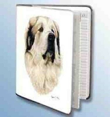 Retired Dog Breed GREAT PYRENEES Vinyl Softcover Address Book by Robert May