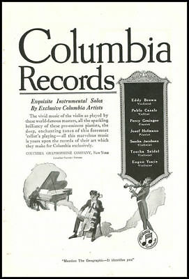 1920s vintage ad for Columbia Records