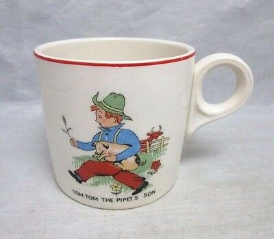 Vintage child's mug, cup. Tom Tom the piper's son