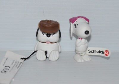 lot of 2 SNOOPY COUSIN BELLE & OLAF Peanuts PVC Figure 2014 NEW Schleich
