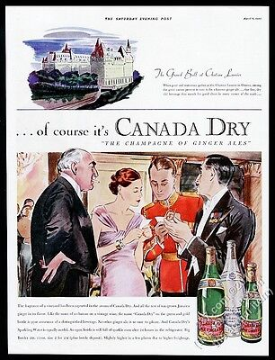 1935 Canada Dry ginger ale Chateau Laurier hotel Grand Ball vintage print ad