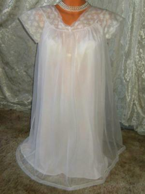 DOUBLE LAYER Vintage BABYDOLL Nightgown Medium Never Worn Bust 40