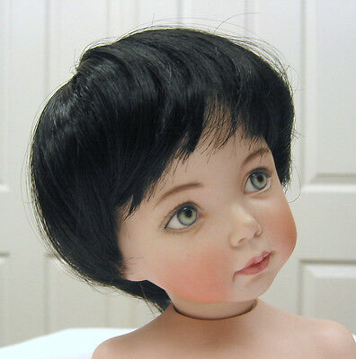 TODDLER DOLL WIG Black size 11-12 NEW short, straight for all types of DOLLS