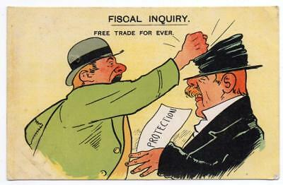 1904  FREE TRADE  FOR EVER   Politics Comic Humour  Postcard
