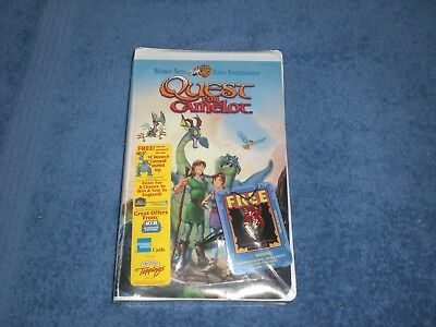 Warner Brothers  QUEST FOR CAMELOT VHS Tape Sealed & CORNWALL & DEVON PENDANT