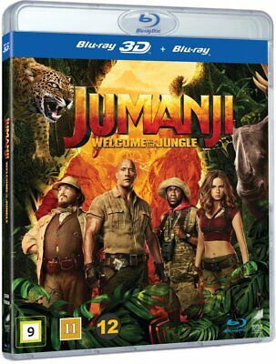 JUMANJI Welcome to the Jungle (2017) Blu-Ray 3D + 2D with slipcover BRAND NEW