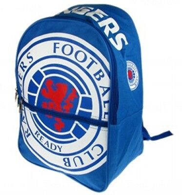 Rangers Football Club Large Crest Blue Backpack Sports Bag BL with FREE UK P/&P
