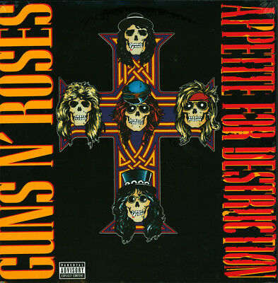 Guns N' Roses Appetite For Destruction LP 180g Vinyl RI NEW