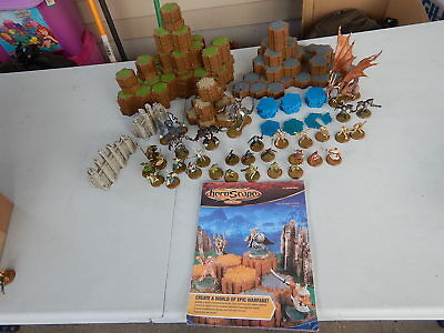 Heroscape The Battle of ALL TIME w/ Manual & 30 Figures: Incomplete