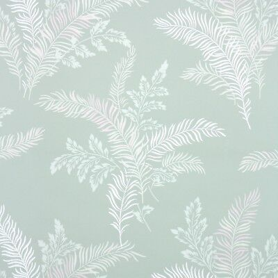 1940s Botanical Vintage Wallpaper White Pink Leaf Fronds On
