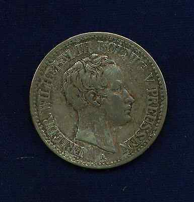 Germany Prussia  1823-A   1 Thaler  Silver Coin,  Almost Xf