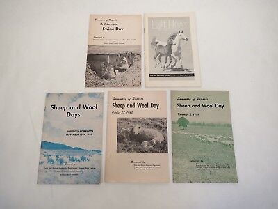 (3) Sheep and Wool Days • Swine Day • Light Horses   Oregon State 50' Booklets