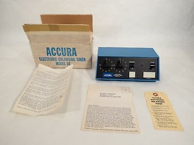 Accura Electronic Enlarging Timer Model 30 • Interphoto Corp • Photo Developing